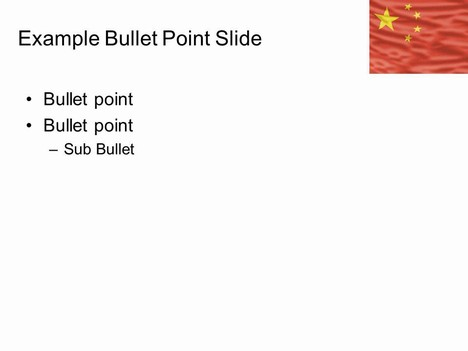 Flag of China Template slide2