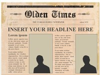 Editable Olden Times Newspaper PowerPoint Template slide3