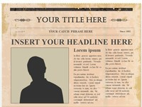 Editable Olden Times Newspaper PowerPoint Template slide4