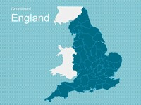 Map of England Template
