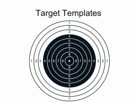 Template of a target search results calendar 2015 for Bullseye chart template