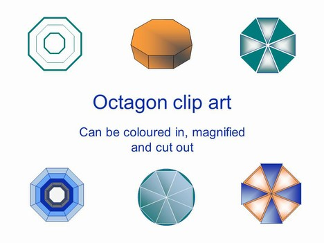 Octagon Outline Clip Art 2 PowerPoint Template