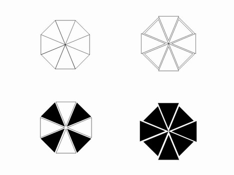 Octagon Outline Clip Art 2 PowerPoint Template slide2