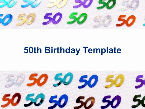 Craft Ideas  Women on This Celebration Template Shows 50th Birthday Confetti Arranged In