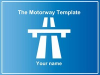 Motorway Signs PowerPoint Template