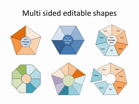 Multi-sided Editable Shapes Template