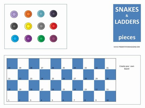 Snakes and Ladders Board Game PowerPoint Template slide2