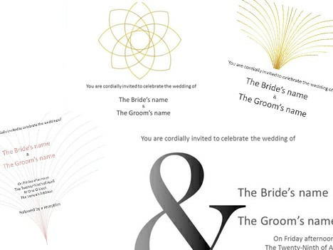 These traditional wedding invitation templates have a formal but ...