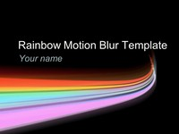 Rainbow Motion Blur Template