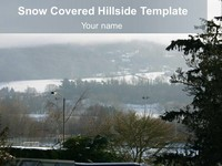 Snow-Covered Hillside Template