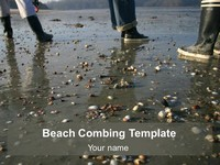 Beachcombing Background Template