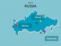 Map of Russia Template