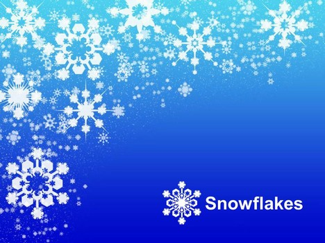 snowflakes on blue background template