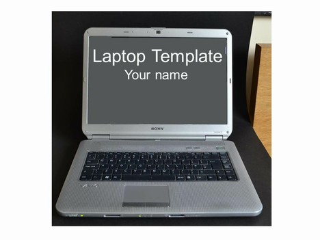 great template consisting of a photo of a real laptop and then a