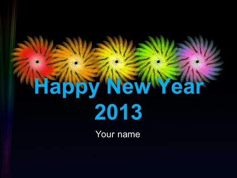Happy New Year – Welcome to 2013 PowerPoint Template