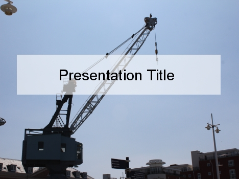 Crane Silhouette PowerPoint Template