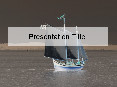 Moody Ship PowerPoint Template