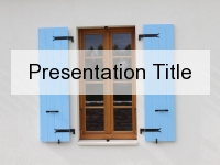 Blue Shutter PowerPoint Template