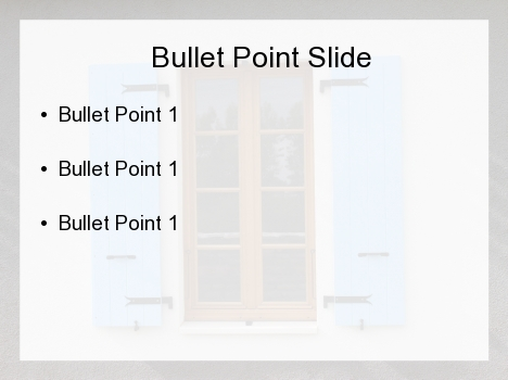 Blue Shutter PowerPoint Template inside page