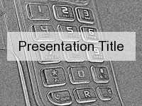 Grey Phone Sketch  PowerPoint Template thumbnail