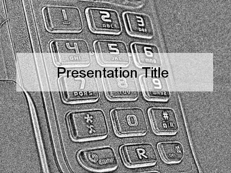 Grey Phone Sketch  PowerPoint Template