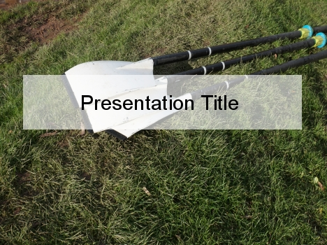 Canoe Paddle PowerPoint Template