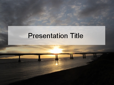 Sunset Bridge PowerPoint Template