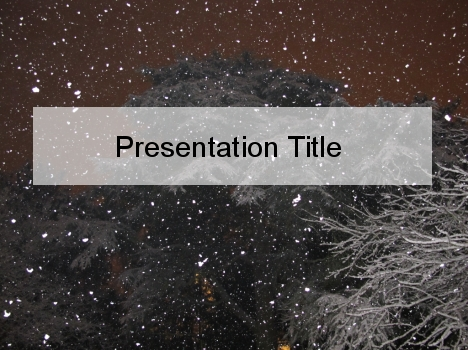 Winter Night-Time PowerPoint Template