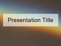 Chromatic Aberration PowerPoint Template