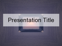 Purple Crystal PowerPoint Template