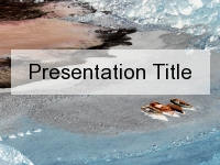 Canoeing in Winter PowerPoint Template thumbnail