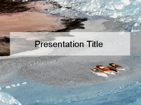 Canoeing in Winter PowerPoint Template