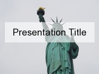 Lady Liberty PowerPoint Template