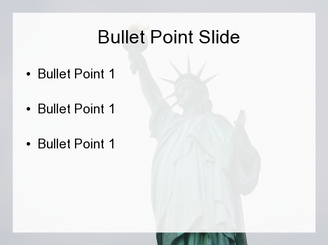 Lady Liberty PowerPoint Template inside page