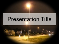 Streetlight PowerPoint Template thumbnail