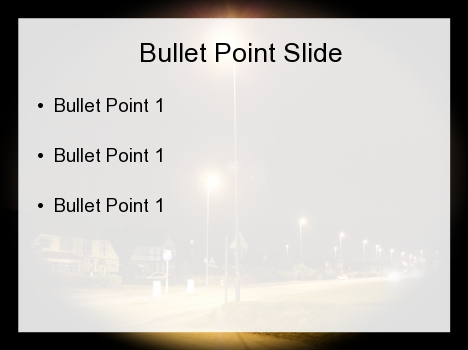 Streetlight PowerPoint Template inside page