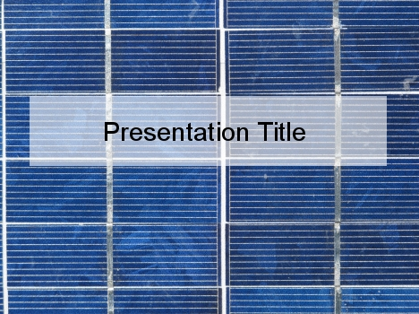 Blue Tile PowerPoint Template