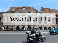 Busy Colosseum PowerPoint Template