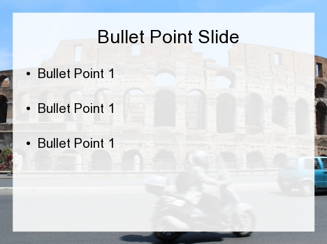 Busy Colosseum PowerPoint Template inside page