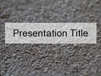 Fine Gravel PowerPoint Template