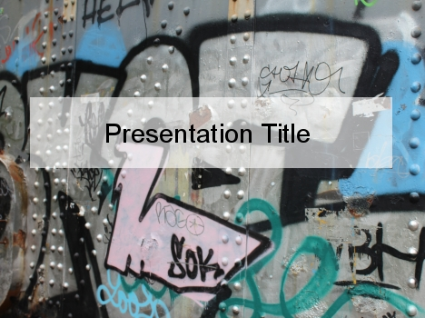 Urban art powerpoint template toneelgroepblik Image collections