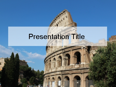Colosseum powerpoint template toneelgroepblik Image collections
