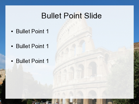 Colosseum PowerPoint Template inside page