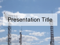 Radio Antenna PowerPoint Template thumbnail