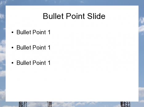 Radio Antenna PowerPoint Template inside page