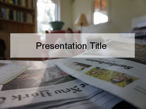 Media Studies PowerPoint Template