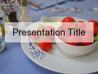 Red Radish PowerPoint Template thumbnail