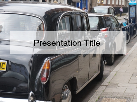 Black Taxi Cab PowerPoint Template