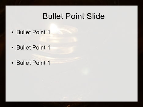 Oil Light PowerPoint Template inside page