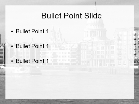 Moody London PowerPoint Template inside page